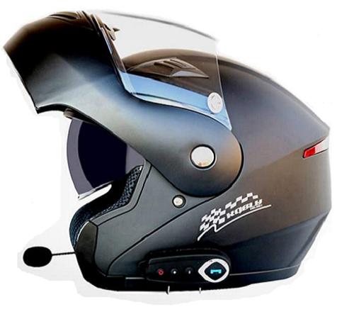 cascos de moto modulares con bluetooth