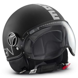 casco moto custom momo negro