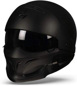Cascos Moto Exo Combat Negro Mate