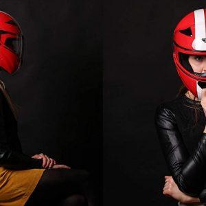 casco de moto mujer